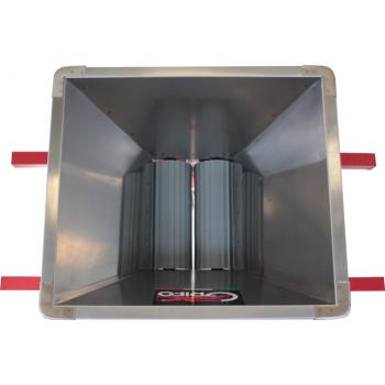 Mini zdrobitor struguri, din inox - manual ,cuvă inox 400 X 400 mm #2