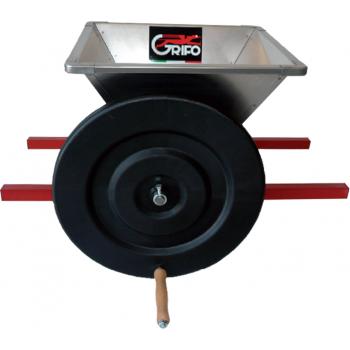 Mini zdrobitor struguri, din inox - manual ,cuvă inox 400 X 400 mm