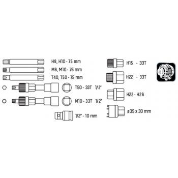 Set de chei pentru asamblare/demontare alternator neo tools #2