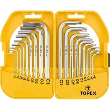 Set chei scurte imbus hexagonale si torx topex