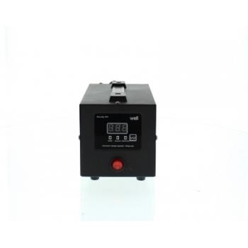 Stabilizator automat de tensiune cu releu 500VA, negru