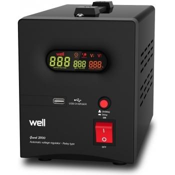Stabilizator automat de tensiune cu releu 2000VA, negru