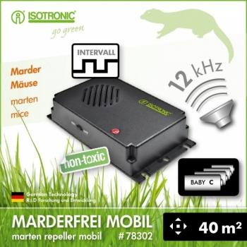 Aparat anti-rozatoare cu ultrasunete auto Marder-Frei Portabil #2