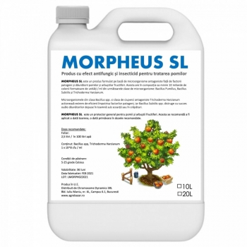 Produs cu efect antifungic și insecticid pentru pomi și arbuști fructiferi (fara continut de ulei mineral), Morpheus SL, 10 litri, SemPlus