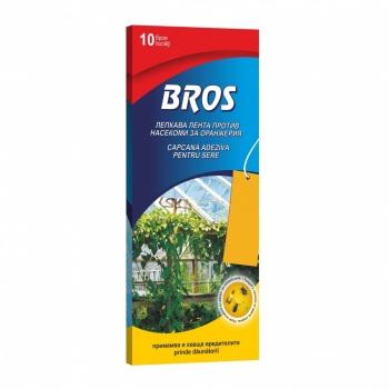 Placi adezive galbene pentru controlul daunatorilor in gradini si sere, 10 bucati/set, Bros