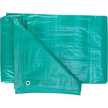 Prelata impermeabila antimucegai, culoare verde, lungime 4 metri, latime 6 metri, Evotools