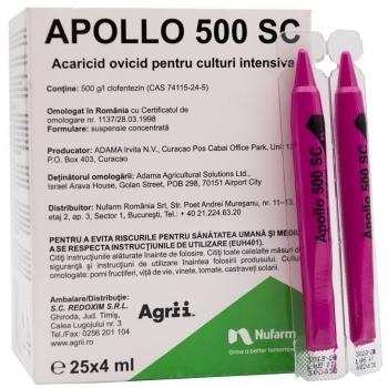 Insecto-acaricid Apollo 500 SC, 4 ml, Nufarm