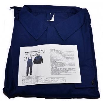 Salopeta si pantalon cu pieptar bleumarin #2