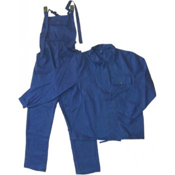 Salopeta si pantalon cu pieptar bleumarin