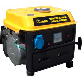 Generator de curent Honest, ST700, monofazic, putere 0.7 kW, benzina, putere motor 0.95 Cp, tensiune 220 V, pornire manuala
