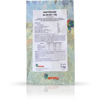 Ingrasamant solubil in apa, cu aplicare foliara si fertirigare,  Proteoleaf 20.20.20+TE, 25 kg, BriseGroup