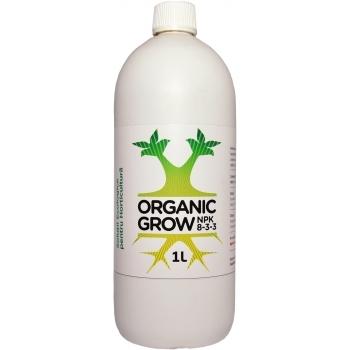 Ingrasamant lichid Bio, cu aplicare foliara si fertirigare, pentru faza de crestere a plantelor, Organic Grow NPK 8-3-3, 1L, Wise Use