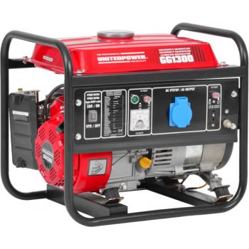 Generator de curent Hecht Nordex, GG 1300, monofazic, putere 1.1 kW, benzina, putere motor 2.4 Cp, tensiune 230 V, pornire manuala