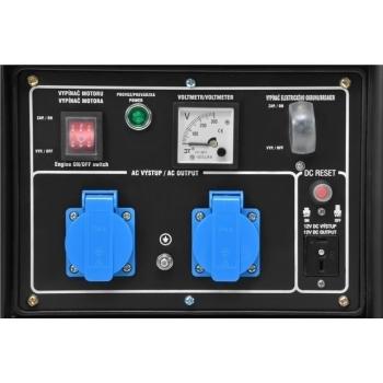 Generator de curent Hecht Nordex, GG 3300, monofazic, putere 3.0 kW, benzina, putere motor 7 Cp, tensiune 230 V, pornire manuala #3