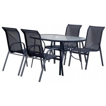Masa Hecht Ekonomy cu 4 scaune schelet metalic