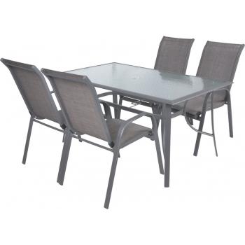 Masa Hecht Sofia cu 4 scaune schelet metalic