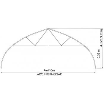 Solar gotic cu pereti verticali 10x30 m, folie dubla inflata #6