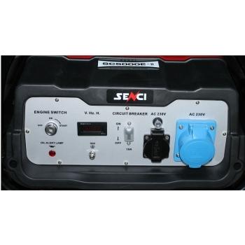 Generator de curent Senci, SC 5000E, monofazic, putere 4.5 kW, benzina, putere motor 11 Cp, tensiune 230 V, pornire electrica, AVR inclus #2