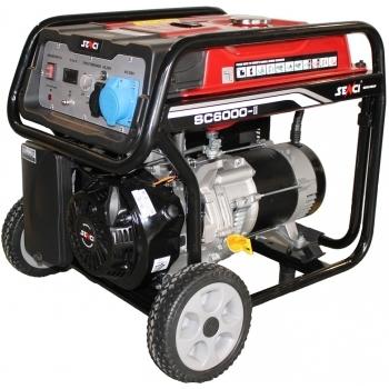 Generator de curent Senci, SC 6000, monofazic, putere 5.5 kW, benzina, putere motor 13 Cp, tensiune 230 V, pornire manuala, AVR inclus