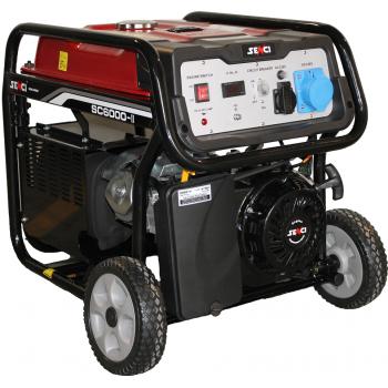Generator de curent Senci, SC 6000E, monofazic, putere 5.5 kW, benzina, putere motor 13 Cp, tensiune 230 V, pornire electrica, AVR inclus