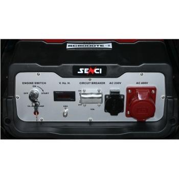 Generator de curent Senci, SC 8000TE, trifazic, putere 7.0 kW, benzina, putere motor 14 Cp, tensiune 400 V, pornire electrica, AVR inclus, manere si roti pentru transport #2