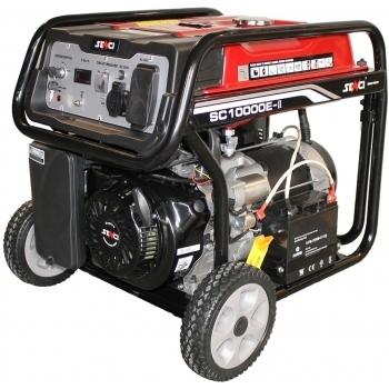 Generator de curent Senci, SC 10000E, monofazic, putere 8.5 kW, benzina, putere motor 14 Cp, tensiune 230 V, pornire electrica, AVR inclus