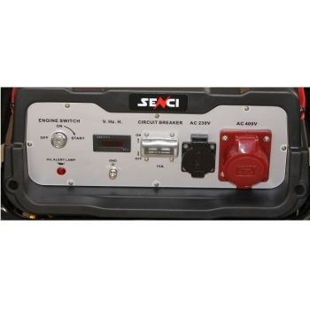 Generator de curent Senci, SC 10000TE, monofazic, putere 8.5 kW, benzina putere motor 14 Cp, tensiune 230 V, pornire electrica, AVR inclus, manere si roti pentru transport #2