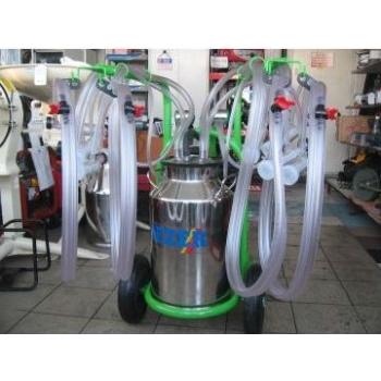 Aparat de muls oi/capre Milkkar4/1 Premium, 4 posturi, bidon inox 40L, pompa vid uscata fara ungere, pulsatoare pneumatice cu filtru aer, tanc vacuum, autospalare, productivitate 140 oi / 72 capre / ora