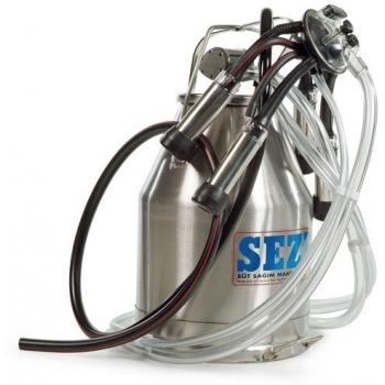 Bidon muls pentru instalatia de muls la bidon, 30L inox, pulsator pneumatic cu filtru aer