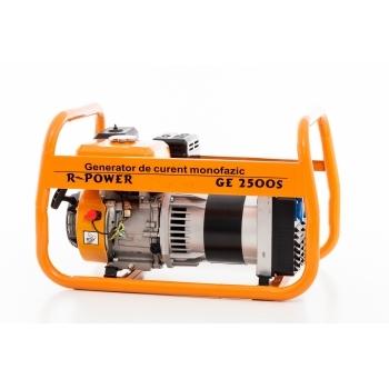 Generator de curent Ruris, R-Power GE2500S, monofazic, putere 2.8 kW, benzina, putere motor 7 Cp, tensiune 220 V, pornire manuala #3