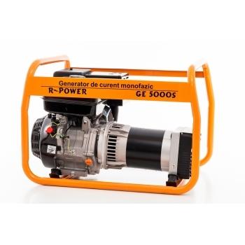 Generator de curent Ruris, R-Power GE 5000 S, monofazic, putere 5.5 kW, benzina, putere motor 13 Cp, tensiune 230 V, pornire manuala #3