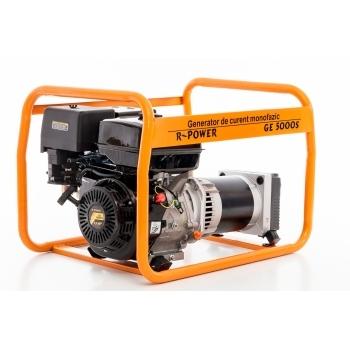 Generator de curent Ruris, R-Power GE 5000 S, monofazic, putere 5.5 kW, benzina, putere motor 13 Cp, tensiune 230 V, pornire manuala #16