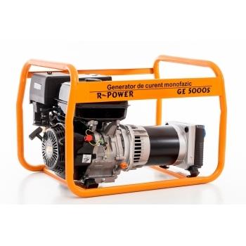 Generator de curent Ruris, R-Power GE 5000 S, monofazic, putere 5.5 kW, benzina, putere motor 13 Cp, tensiune 230 V, pornire manuala #17