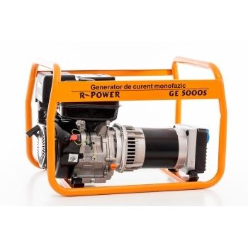 Generator de curent Ruris, R-Power GE 5000 S, monofazic, putere 5.5 kW, benzina, putere motor 13 Cp, tensiune 230 V, pornire manuala #18