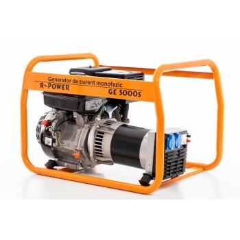 Generator de curent Ruris, R-Power GE 5000 S, monofazic, putere 5.5 kW, benzina, putere motor 13 Cp, tensiune 230 V, pornire manuala #4