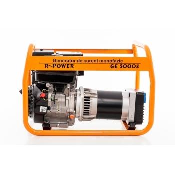Generator de curent Ruris, R-Power GE 5000 S, monofazic, putere 5.5 kW, benzina, putere motor 13 Cp, tensiune 230 V, pornire manuala #2