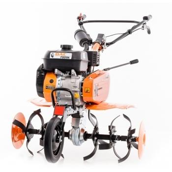 Motosapa DAC 7009ACC1+roti cauciuc+rarita+ roti metalice 300,  fara manicot, 7 CP, latime de lucru 56-83 cm, Ruris