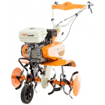 Motosapa Ruris 7099+roti cauciuc+rarita+plug+adaptor, 7 CP, latime de lucru 56-83 cm, Ruris