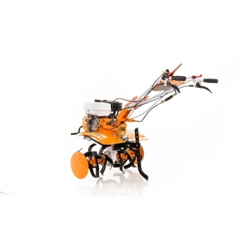 Motosapa Ruris 731 ACC +roti cauciuc+rarita fixa+plug+adaptor+disp.scos cartofi+roti metalice fara manicot + cultivator, benzina, putere 7.5 Cp, latime de lucru 56-83 cm, pornire la sfoara, 2 viteze inainte + 1 inapoi #10