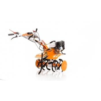 Motosapa Ruris 731 ACC +roti cauciuc+rarita fixa+plug+adaptor+disp.scos cartofi+roti metalice fara manicot + cultivator, benzina, putere 7.5 Cp, latime de lucru 56-83 cm, pornire la sfoara, 2 viteze inainte + 1 inapoi #13