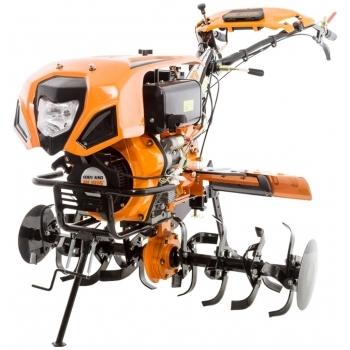 Motocultor Ruris 1001KSD+roti cauciuc+plug reveribil Rev2 + roti metalice 500, motorina, putere 10 Cp, latime de lucru 75-125 cm, pornire automata la cheie, 2 viteze inainte + 1 inapoi