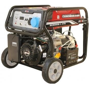 Generator de curent Senci, SC-8000-ATS, monofazic, putere 7.0 kW, benzina, putere motor 14 Cp, tensiune 230 V, pornire electrica, AVR si ATS incluse