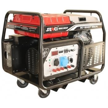 Generator de curent Senci, SC-13000TEQ, trifazic, putere 12.0 kW, benzina, putere motor 22 Cp, tensiune 400 V / 230 V, pornire electrica, AVR inclus, portabil (4 roti directionale) #3