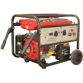 Generator de curent si pentru sudura Senci, SC-200EW, monofazic, putere 4.5 kW, benzina, putere motor 14 Cp, tensiune 230 V, pornire electrica, AVR inclus, manere si roti pentru transport