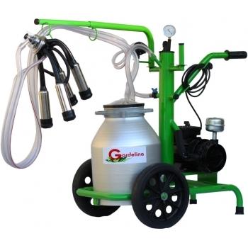 Aparat de muls bovine 130 AL IC, productivitate 8 -10  bovine/h,1 post, bidon 30 l aluminiu, cu pahare inox fara tanc, Gardelina