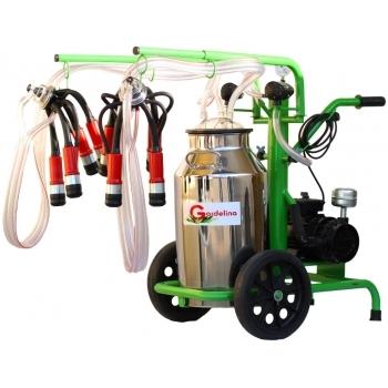 Aparat de muls bovine 240 IN PC, productivitate 16-20 bovine/h, 2 posturi, bidon 40 l inox, cu pahare plastic fara tanc, Gardelina