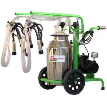 Aparat de muls bovine 240 IN IC, productivitate 16-20 bovine/h, 2 posturi, bidon 40 l inox, cu pahare inox fara tanc, Gardelina