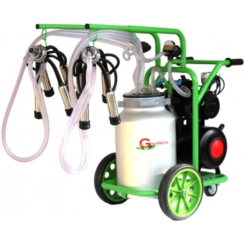 Aparat de muls bovine T240 AL IC, productivitate 16-20 bovine/h, 2 posturi, bidon 40 l aluminiu, cu pahare inox cu tanc, Gardelina