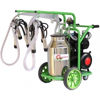 Aparat de muls bovine T240 IN IC, productivitate 16-20 bovine/h, 2 posturi, bidon 40 l inox , cu pahare inox cu tanc, Gardelina