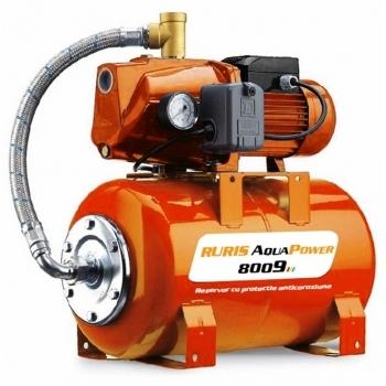 Hidrofor Ruris AquaPower 8009, putere motor 1100 W, debit 25 l/min, Ruris